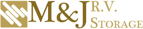 Logo, M&J R.V. Storage - RV Storage